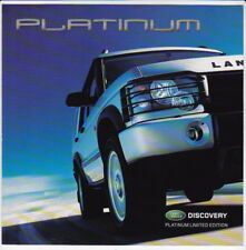 2003 LAND ROVER DISCOVERY PLATINUM LIMITED EDITION Australian 4 Page Brochure