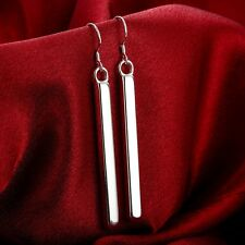 HOT 925 Sterling Solid Silver Straight earrings #W080