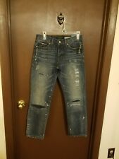 AEROPOSTALE {Size 27/28} Factory Destroyed Straight Leg Jeans NWT
