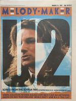 Melody Maker Magazine 14 March 1987 U2, Julian Cope, Nick Cave, Steve Severin,