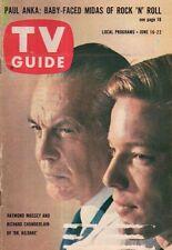 1962 TV Guide June 16 - Raymond Massey; Paul Anka; Diana Millay; Rustic Canyon