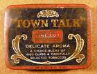 Vintage Town Talk Medium Fine Cut Delicate Aroma Tobacco 2oz Tin