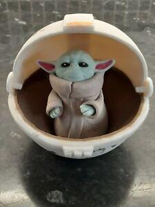 Star Wars Mandalorian Baby Yoda in sleeping pod edible or keep sake cake topper