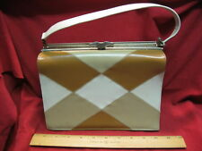 Vintage Naturalizer Handbag Tan White Brown Non Leather 32111 439Z83