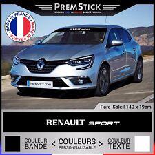 Sticker Pare Soleil Renault Sport - Autocollant Voiture, Stickers Racing, ref3