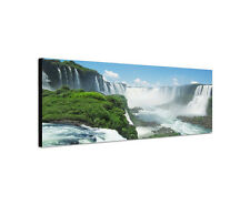 120x40cm Wandbild Panorama Iguazu Wasserfälle Südamerika Sinus Art Leinwand Büro