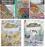 A4 Adult Colouring Books Colour Therapy Patterns Anti-Stress  Books