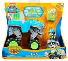 Paw Patrol DINO RESCUE REX Deluxe VEHICLE Puppy Figure Surprise Dinosaur Egg NEW