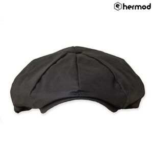 Belstaff Hislop Waxed Cotton Casual Flat Cap - Black