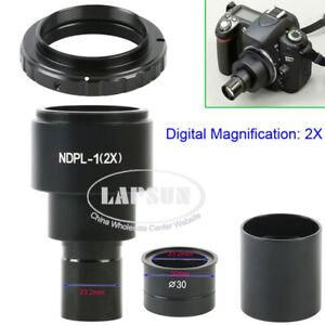 NDPL 2X / 9.6X SLR Microscope Eyepiece Adapter 23.2mm T2 for Canon Nikon Camera