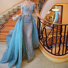 Long Formal Evening Pageant Dress 2017 Appliques Mermaid Wedding Prom Party Gown