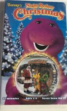 Barney's Night Before Christmas [VHS] Clamshell 1999-TESTED-RARE VINTAGE-SHIP 24