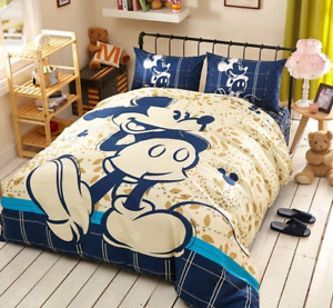 3D DISNEY'S MICKEY MOUSE SOFT 100% COTTON TWIN FULL QUEEN COMFORTER SET