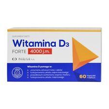 Witamina D3 Forte 4000 J.m 60 Kaps suplement deidad Dieta Suplemento de Vitamina D3