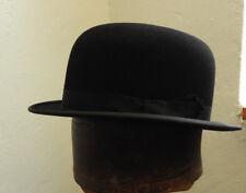 Original Vintage Gentlemen's Black Bowler Hat By Dunn & Co Size 6 7/8 Small(5133