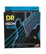 DR Guitar Strings Electric Neon Blue 09-46 Light - Medium
