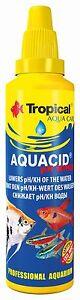 AQUACID PH MINUS FOR LOWERING PH/KH OF THE TAP WATER IN AQUARIUM FISH TANK