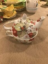 Carlton Ware Strawberry Themed Teapot and Cup Set