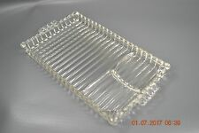 Anchor Hocking Boopie Glass Serving Tray Plate Snack Luncheon Hostess