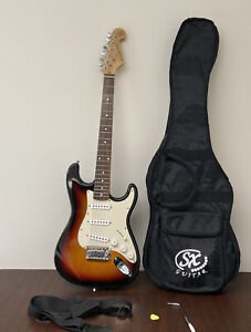 SX Custom 6-String Electric Bass Guitar Handmade Standard Series SUNBURST/As-Is