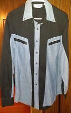 Stetson Mens Cowboy Dress Shirt Size L. Unique Pattern NICE SHIRT