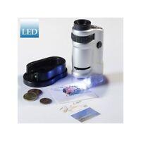 Microscopio zoom con luz LED 20 x 40 aumentos ref. 305 995