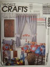 Mccalls 4853 Apron Pillows Chair Covers Curtain UC FF Country Kitchen Pattern