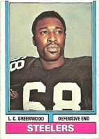 1974 Topps #496 LC Greenwood Pittsburgh Steelers Football Card