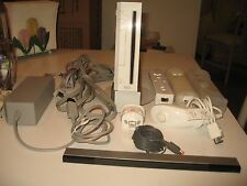 Nintendo Wii Console with Remotes Nunchuk Sensor Bar Motion Plus Adapter & More