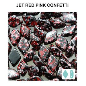 Matubo Gemduo™ Pressed Beads Czech Ornela Glass 8x5mm Size 8g Tube Choose Color