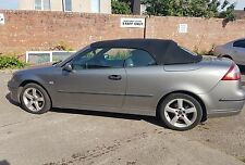 06 Saab 9-3 Convertible Breaking For Parts. Four Wheel Nuts. Cabriolet Grey 279