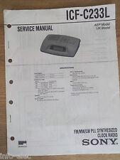 Schema SONY - Service Manual FM MW LW PLL SYNTHESIZED CLOCK RADIO ICF-C233L