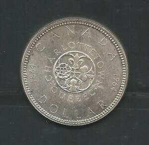 Canada Quebec 1964 1 Silver Dollar 22 gram Elizabet II Uncirculated