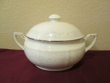 NORITAKE IVORY LACE 7314 OVAL COVERED VEGETABLE - 0310I