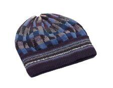 """Unisex 100% Alpaca Hand Knit Winter Beanie Hat """"Mosaic"""""""