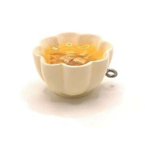 4 or 20 pcs Resin Tofu Bowl Soup Charms, Food Charm - US Seller - WH050