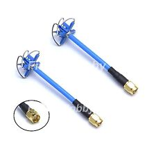 1 Pair 5.8g 4-Leaf Clover Mushroom Antenna for TX/RX w/ SMA connector for Aomway
