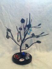 Black Iron Metal Art Earring Display Tree Jewelry Stand Trinket Dresser Organize
