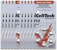 60x Hearing Aids Batteries Size 312 Platinum Zinc Air iCellTech Korea Battery