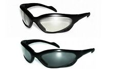 2 Neptune Sunglasses EVA Foam Padded Smoke Clear Safety Lens Motorcycle Cycling