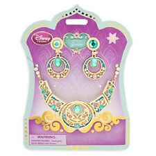 DeLuXe~Jasmine Jewelry Set~Costume~Necklace + Earrings~Nwt~Disney Store~2015