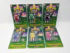 6 Original 1993 Mighty Morphin Power Rangers, AUTO MORPHIN FLIP HEAD Rare Set