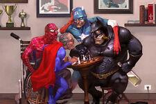 "Super Heroes Super Viejo,Decor Art Canvas Print Oil Painting ,16""x24"""