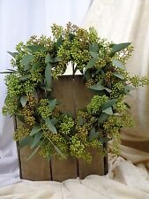 FRESH Seeded Eucalyptus WREATH, Wedding, Cottage Decor, Greenery, Handmade