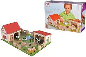 """Eichhorn Little Farm 100% Wooden 25-Piece Kids Toddler Children's Toy Play Set"""""""""""