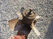 Farmall Cub Lo boy tractor good working IH engine motor fan blade w/ belt pulley