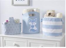 3-Piece Canvas Nursery organizer Storage Set Children Baby Infant Toddler - Blue