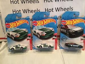 HOT WHEELS '71 PORSCHE 911 & Porsche Panamera Polizei (police)