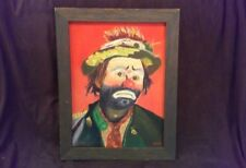Vintage Heep - Emmett Kelly Original Clown painting Signed