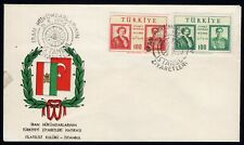 Turkey 1956 first day cover FDC with stamps Mi#1479-1480 used Istanbul CV=20€